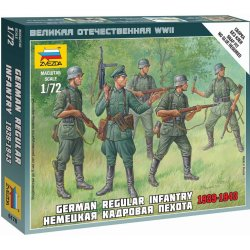 Wargames WWII figurky 6178 German Regular Infantry 193943 1:72